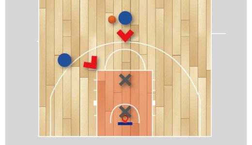【バスケ 練習メニュー ディフェンス】ヘッジディフェンスの2対2