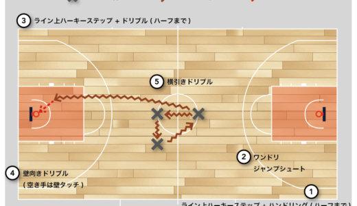 【バスケ 練習メニュー】 スキル・コーディネーション サーキットトレーニング