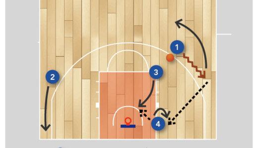 【バスケ 練習メニュー オフェンス】 スペーシングの基礎 ポストマンを絡めるケース